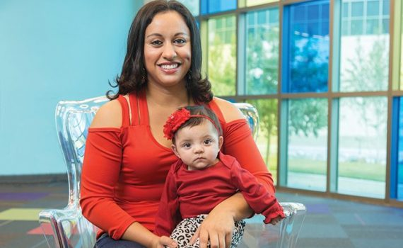 Erica Diaz and her daughter, who spent 75 days in the NICU