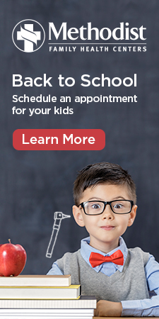 Ad for back to school appointments.