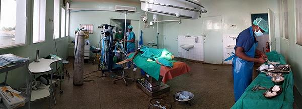 Panorama of operating room in Tanzania
