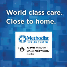 "Advertisement that reads ""World class care. Close to home."""