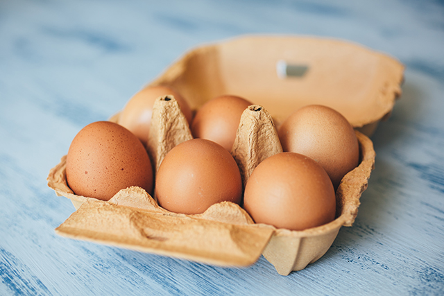 Carton of eggs; recipe substitutions for your guests.