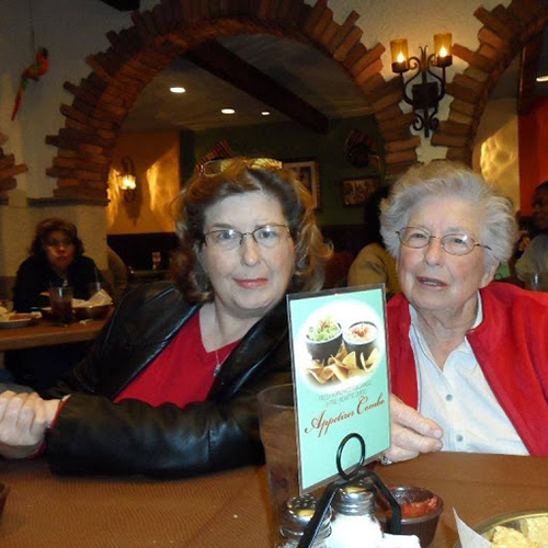Author Jerri and her late mother; Jerri talks about holiday mental health.