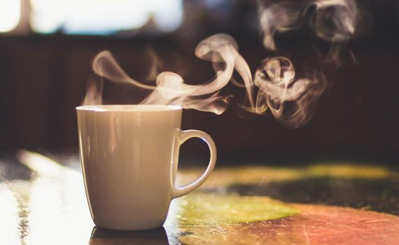 tea mug steeping; try floral teas for health benefits