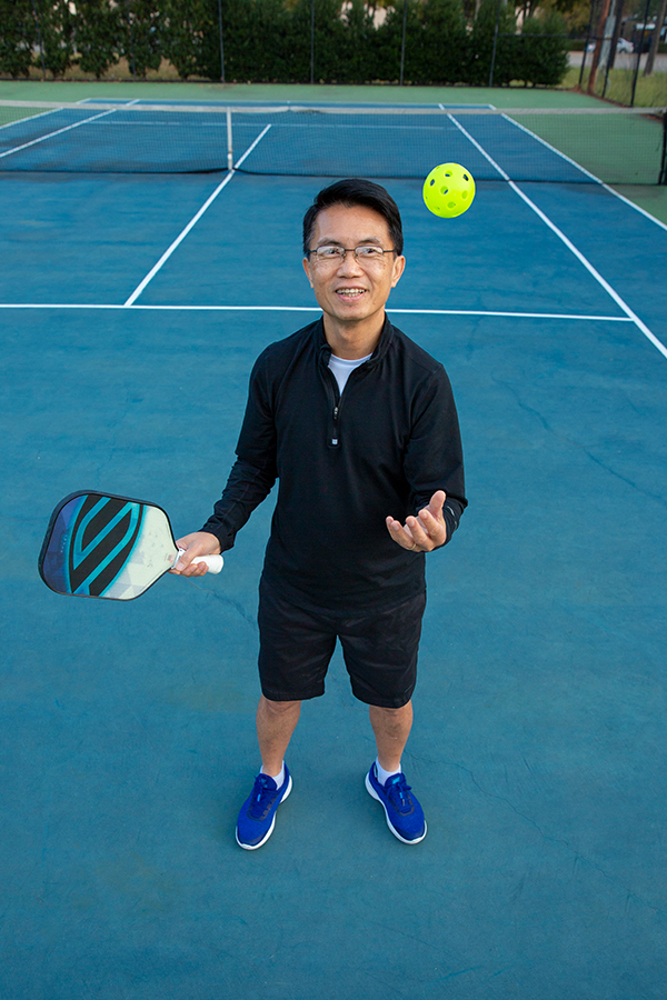 Ott Siluangkhot on tennis court; received treatment for heart attack at Methodist Richardson Medical Center