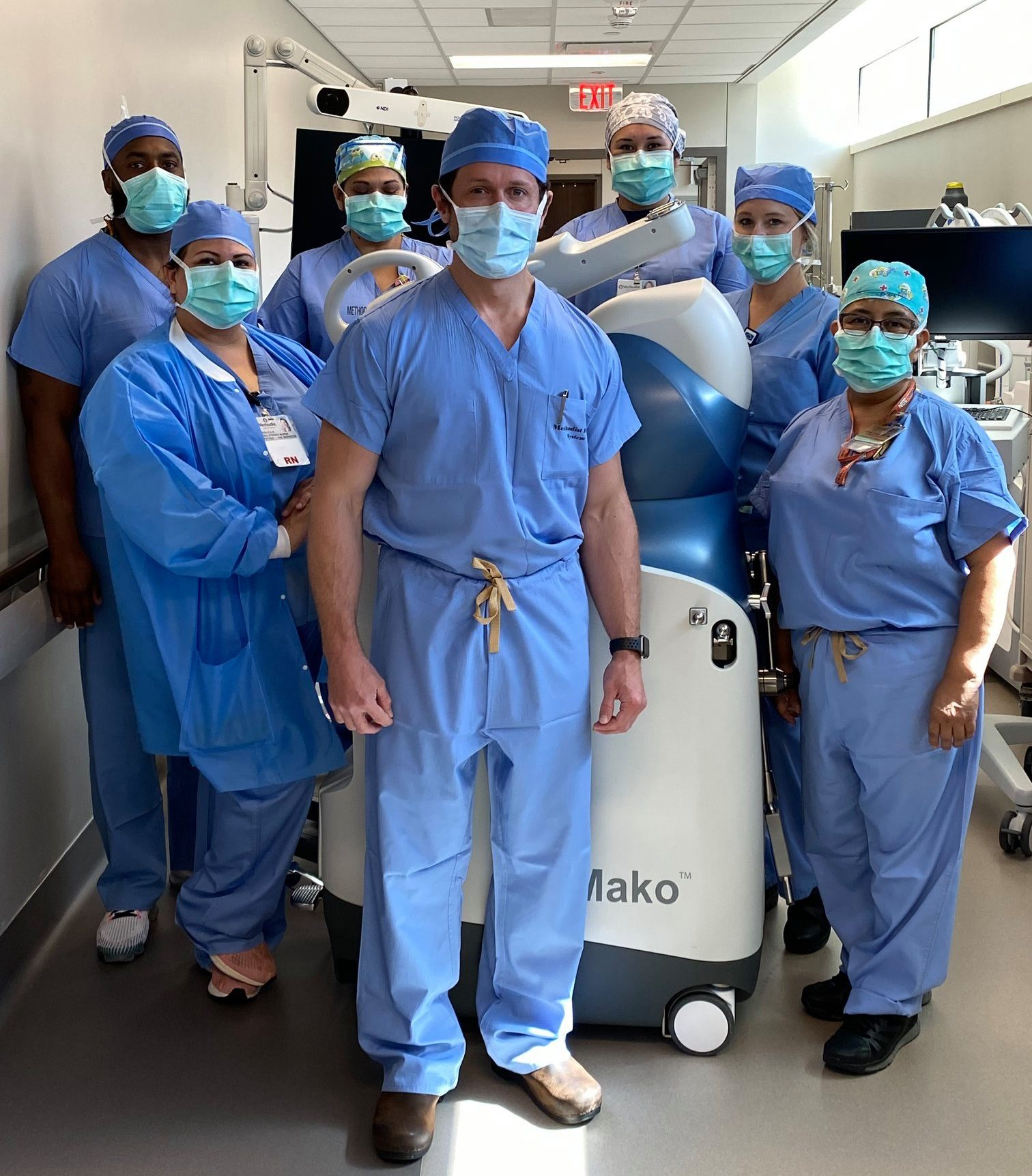 Andrew Chambers, MD and his surgery team in charge of Barbara's robotic surgery