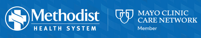 Methodist health system and mayo clinic logos