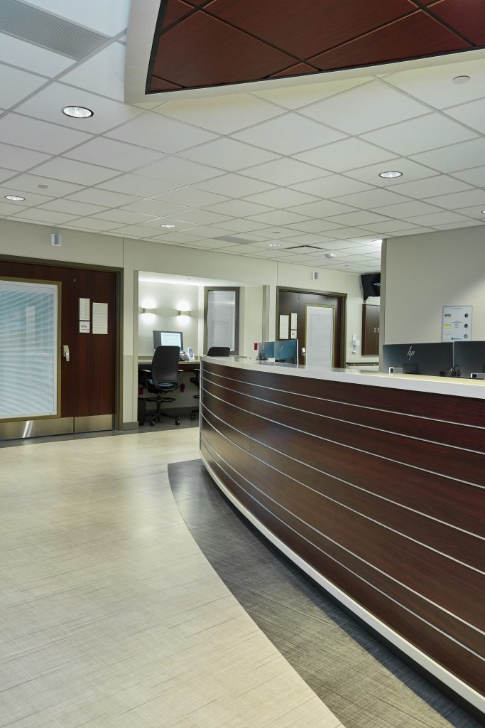 A photograph of the entryway at the Progressive Care Unit for Transplant and Advanced Surgery