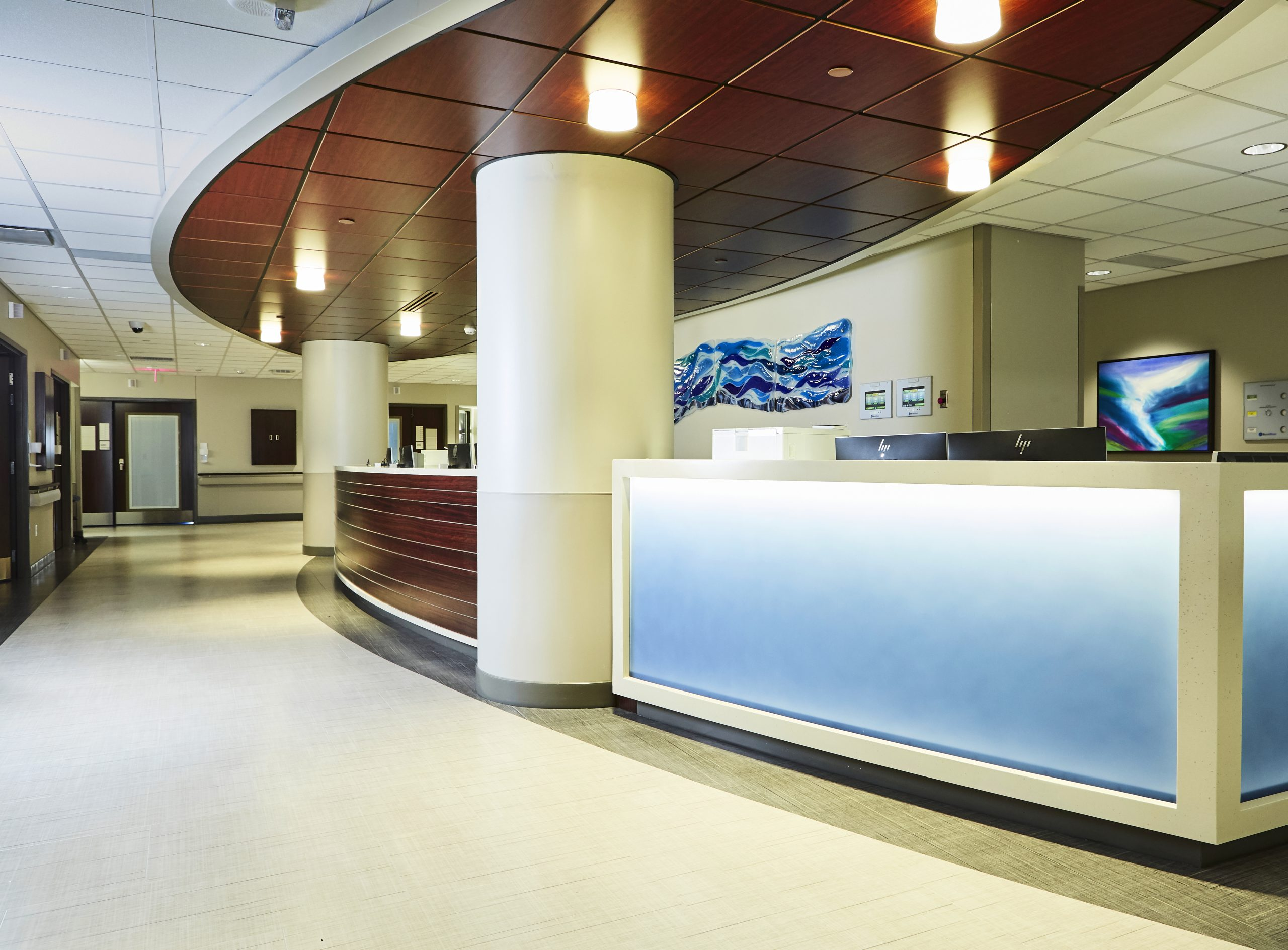 View of the Progressive Care Unit for Transplant and Advanced Surgery at Methodist Dallas Medical Center