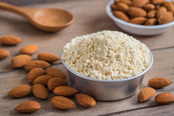 bowl of almond flour