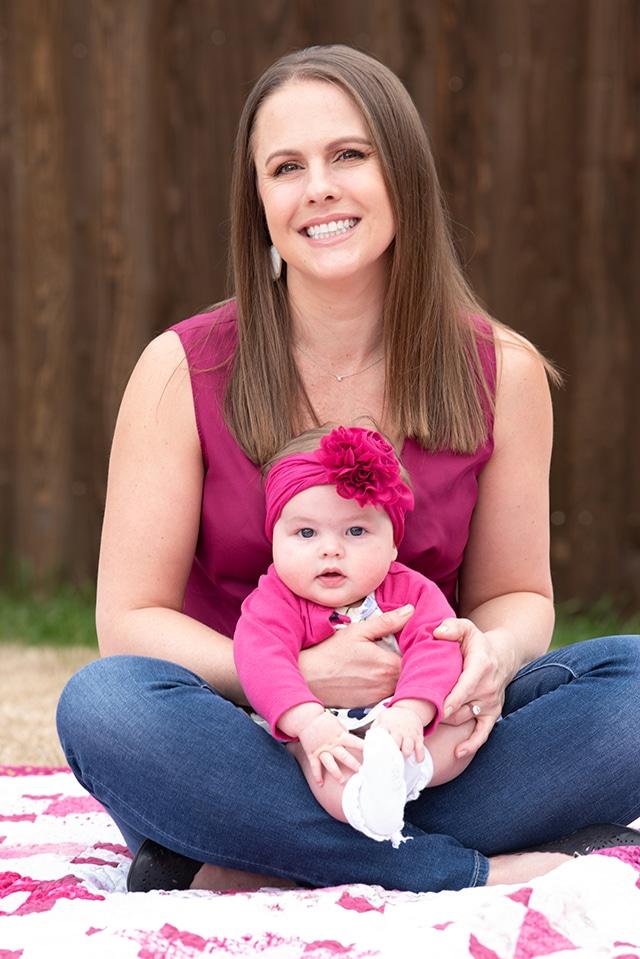 Samantha Crist and her newborn Charlotte