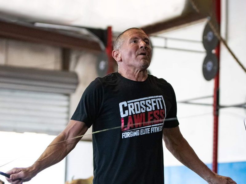 James Wieting exercising after his heart disease related surgeries
