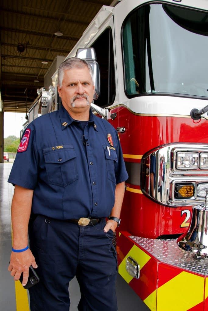 DeSoto firefighter Craig Kirk