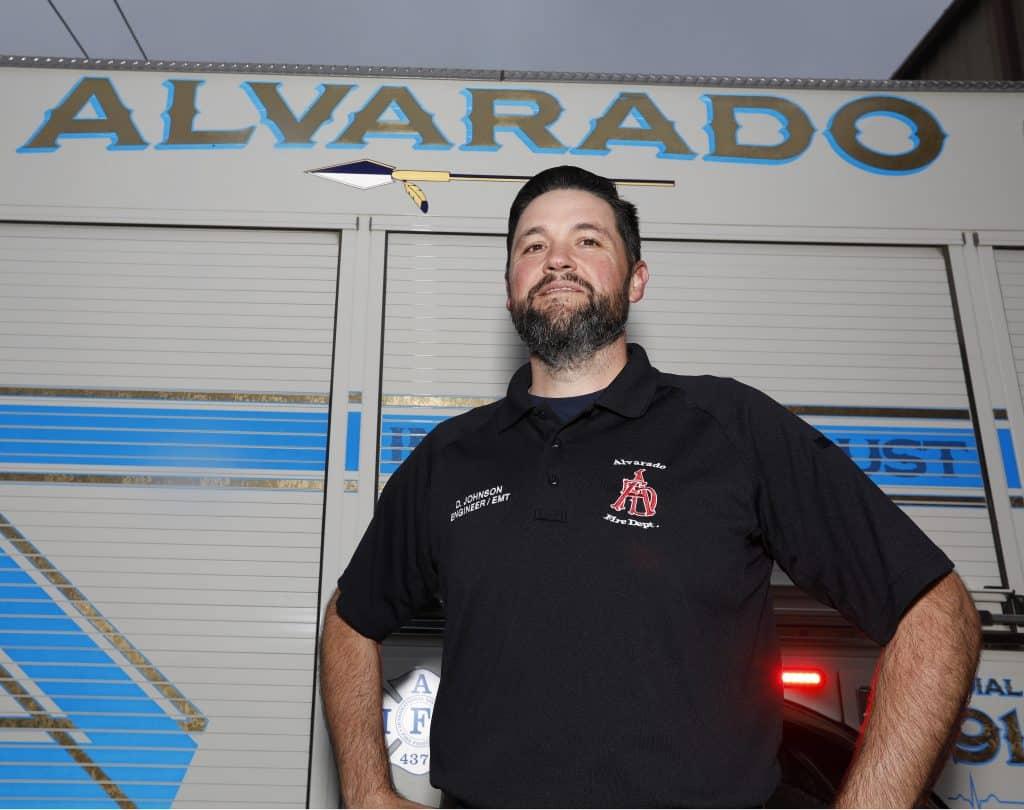 Alvarado fireman Doug Johnson