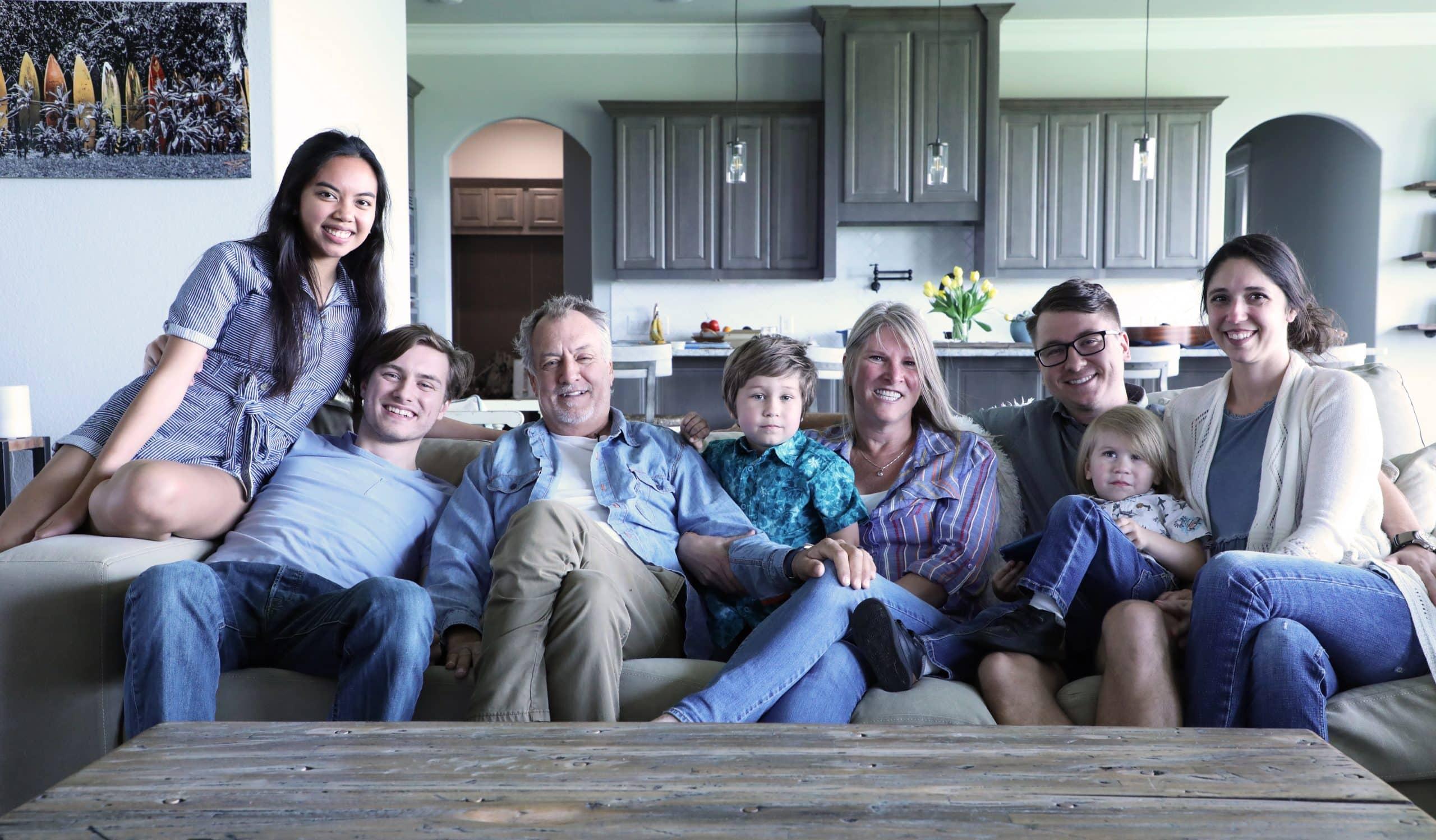 The Gates family (from left): Isabel Arcellana, Devon Gates, Dennis Gates, James Gates, Jana Gates, Christian Gates, Noah Gates, and Gabrielle Gates