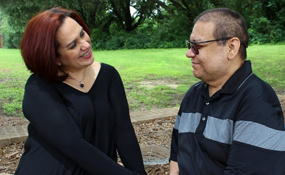 Lianabel Rodriguez and her husband Felipe Villegas Robles after his kidney transplant