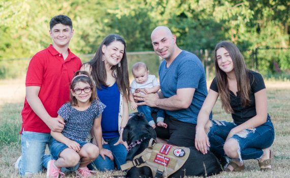 Hassan Bozorgnia, his wife Jennifer, and their family after four babies born at Methodist Mansfield